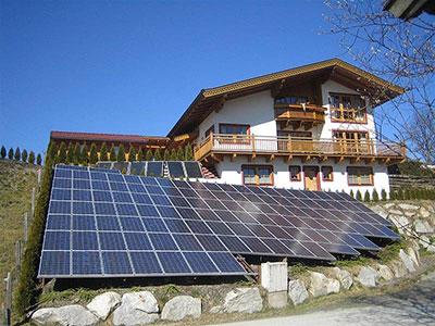 Privathaus Photovoltaikanlage
