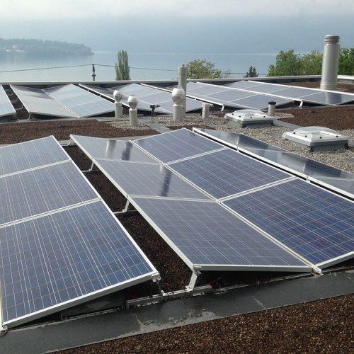 Flachdach Photovoltaikanlage